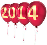 Happy New Year 2014 balloons party decoration Stock Photos