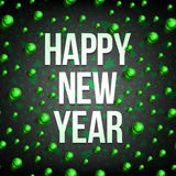Happy new year balls-02 Royalty Free Stock Photos