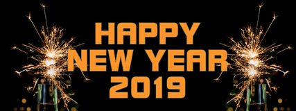 Happy New Year 2019 stock images