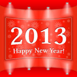Happy New Year Banner. Red Happy New Year Banner Royalty Free Stock Images