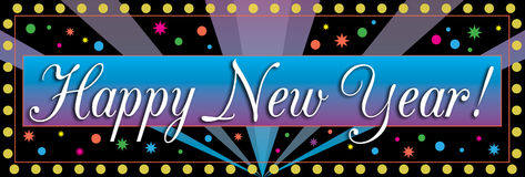 Happy New Year Banner Royalty Free Stock Photos