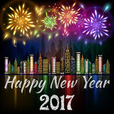 Happy New Year 2017 banner Royalty Free Stock Photos