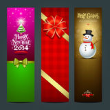 Happy New Year 2014 banner design. Collections background,  illustration Stock Images
