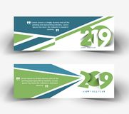 Happy New Year 2019 Banner Design Patter. Vector illustration vector illustration