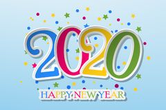 Happy new year 2020 banner. Happy New Year 2020 Design Patter. Vector illustration