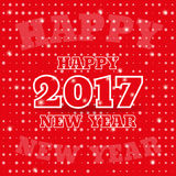 Happy New Year 2017. banner, greeting card Holiday. Vector. 2017 Happy New Year. Banner or greeting card for New Year Holiday on background. Vector illustration Stock Images
