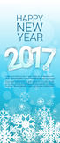 Happy New Year 2017 Banner Merry Christmas Greeting Card. Flat Vector Illustration vector illustration
