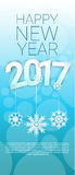 Happy New Year 2017 Banner Merry Christmas Greeting Card. Flat Vector Illustration royalty free illustration