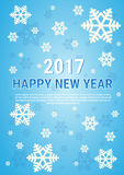 Happy New Year 2017 Banner Merry Christmas Greeting Card. Flat Vector Illustration stock illustration