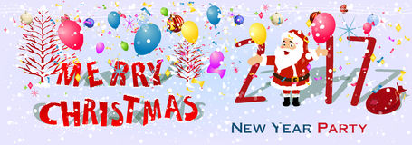 Happy new year 2017 banner stock illustration