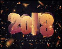 2018 Happy new year. Happy New Year Banner with 2018 Numbers. Stock Photos