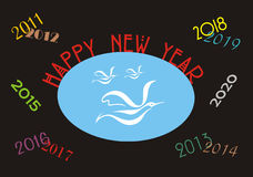 Happy New Year Banner Stock Photos