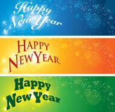 Happy New Year Banner Royalty Free Stock Photography