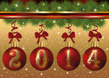 Happy New 2014 Year banner Stock Photos