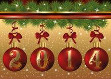 Happy New 2014 Year banner. Vector illustration Stock Photos