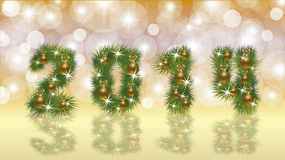 Happy New 2014 Year banner. Vector illustration Royalty Free Illustration