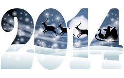 Happy New 2014 Year banner Royalty Free Stock Photography