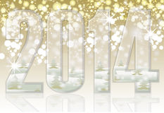 Happy New 2014 year banner. Vector illustration Royalty Free Stock Images