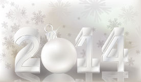 Happy New 2014 Year banner. Vector illustration stock illustration
