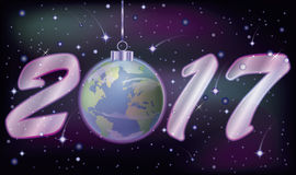 Happy new 2017 year banner, vector. Illustration Stock Images