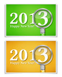 Happy new year banners Stock Photography