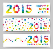 Happy New Year banners Stock Photos