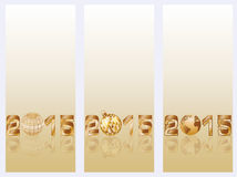 Happy New 2015 Year banners. Vector illustration Stock Images