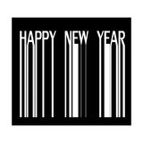 Happy new year on barcode  illustration Stock Image