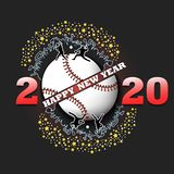 Happy new year 2020 and baseball ball