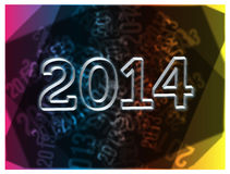 Happy new year 2014. A  based abstract background with 2014 front text Stock Images