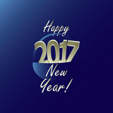 Happy New Year 2017. For the year 2017 a basket full of happiness Royalty Free Stock Photos