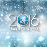 Happy New Year bauble background. Happy new year background with Christmas bauble Royalty Free Stock Photo