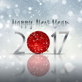 Happy New Year bauble background. Decorative Happy New Year bauble background Royalty Free Stock Image