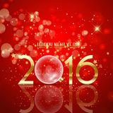 Happy New Year bauble background. Happy New Year background with glass bauble design Stock Photography