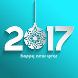 Happy New Year bauble background Royalty Free Stock Images