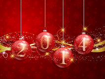 Happy New year baubles background Stock Images