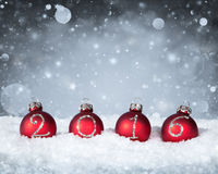 Happy New Year 2016 - Baubles Stock Photo