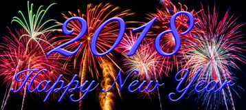 Happy New Year on a background of fireworks. Happy New Year on a beautiful background of fireworks royalty free stock images