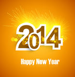 Happy new Year 2014 Beautiful celebration backgrou. Nd holiday colorful Stock Illustration