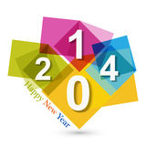 Happy new Year 2014 beautiful celebration backgrou Stock Image