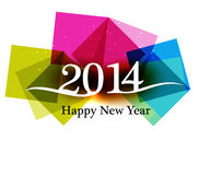 Happy new Year 2014 Beautiful celebration. Colorful background Vector Illustration