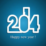 Happy new Year 2014 Beautiful celebration. Colorful design Stock Illustration