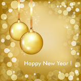 Happy New Year Beautiful Gold Design. Vector Royalty Free Stock Photography
