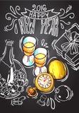 Happy new year. Beautiful hand drawn vector illustration new year for your design vector illustration