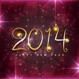 Happy new year. Beautiful shiny 2014 golden happy new year design Royalty Free Stock Photo