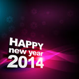 Happy new year 2014. Beautiful shiny happy new year greeting design Royalty Free Stock Image