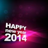 Happy new year 2014. Beautiful shiny happy new year greeting design vector illustration