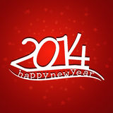 Happy new Year 2014 beautiful stylish bac. Kground Vector Illustration