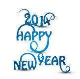 Happy new Year 2014 beautiful stylish. Design Vector Illustration