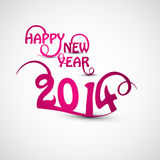 Happy new Year 2014. Beautiful stylish text creative Stock Illustration